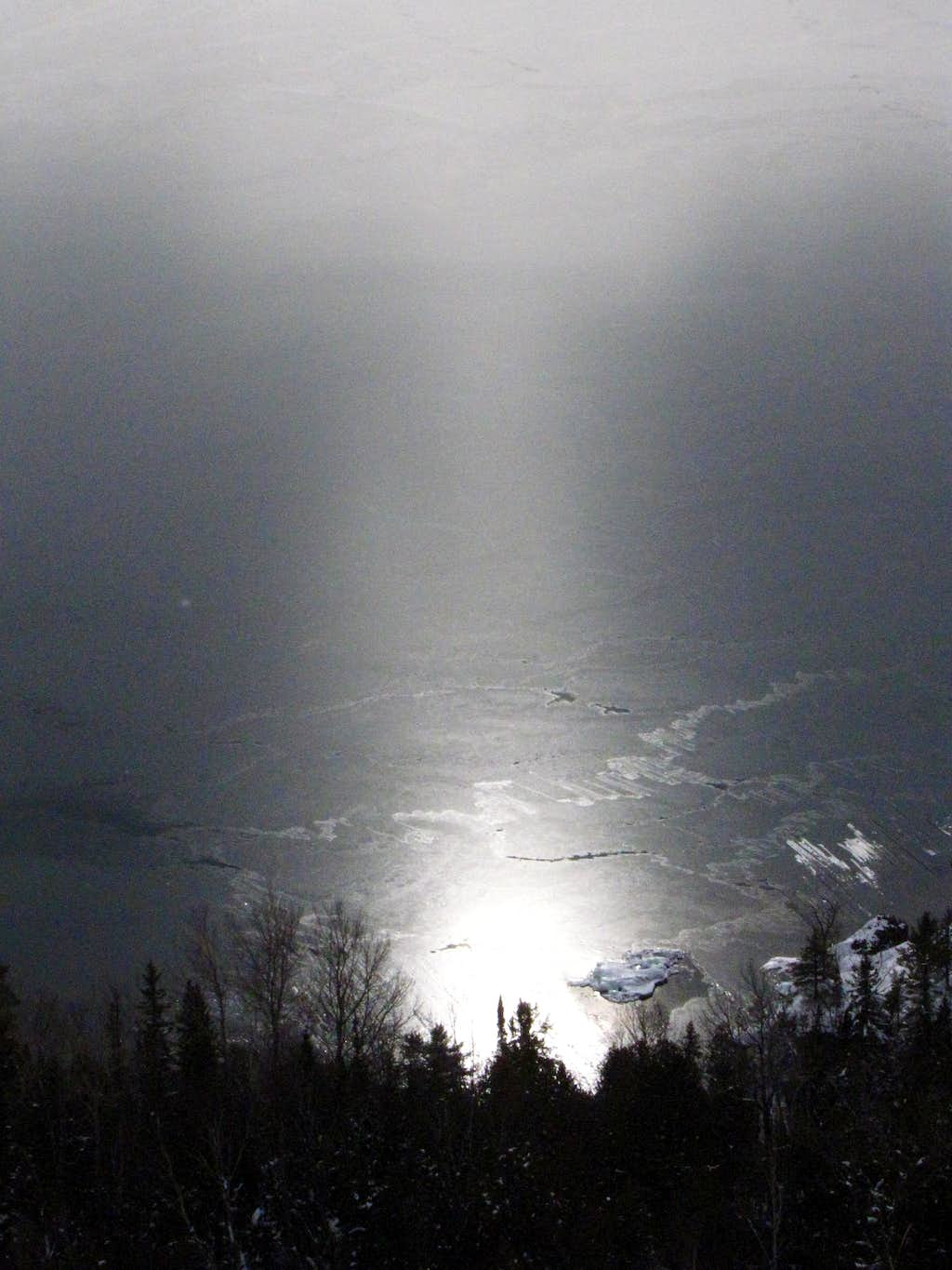 Sun reflecting off Lake Superior 2