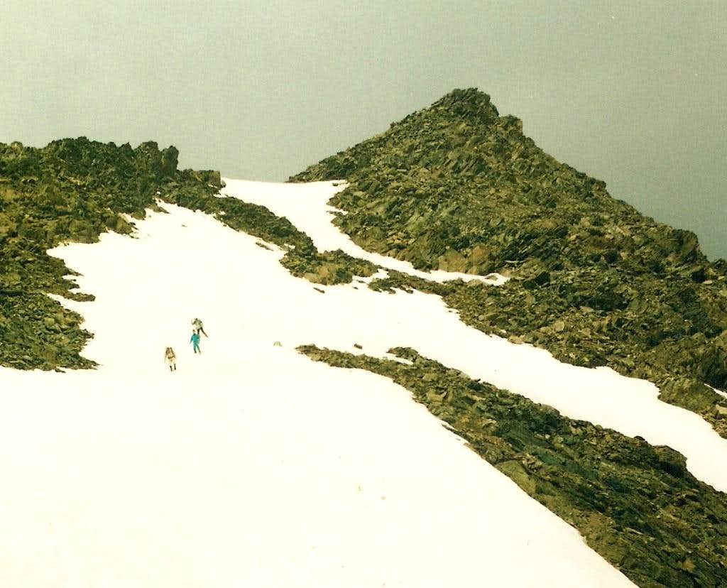 Final approach to summit