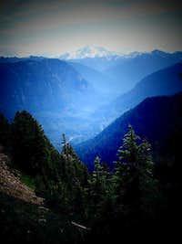 Glacier Peak Lording over the Horizon