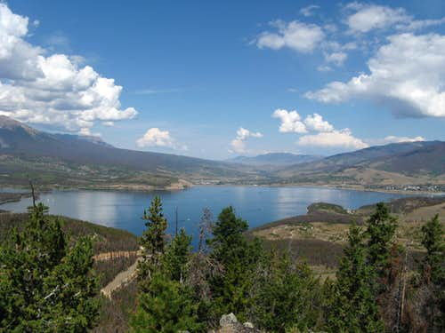 Dillon Reservoir from Swan Mtn
