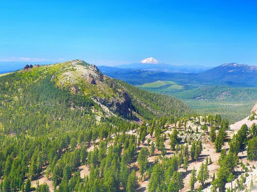 Loomis Peak  with Mt. Shasta and Crater Peak