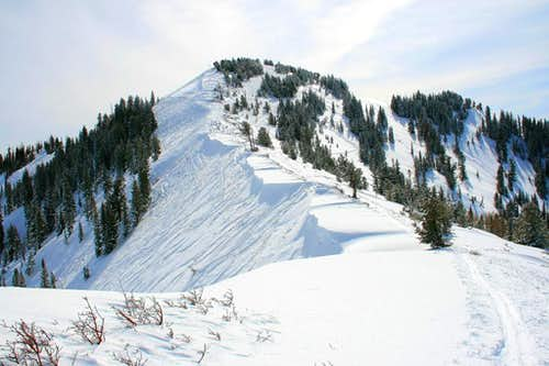 Desolation Peak's north ridge.