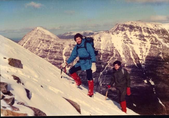 Ascending the ridge on Liathach