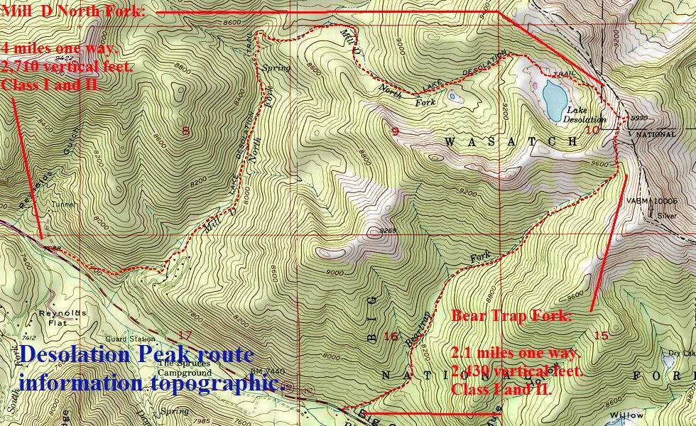 Desolation Peak Topographic.