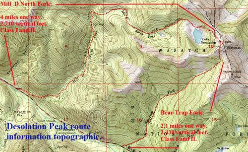 Desolation Peak Topographic.