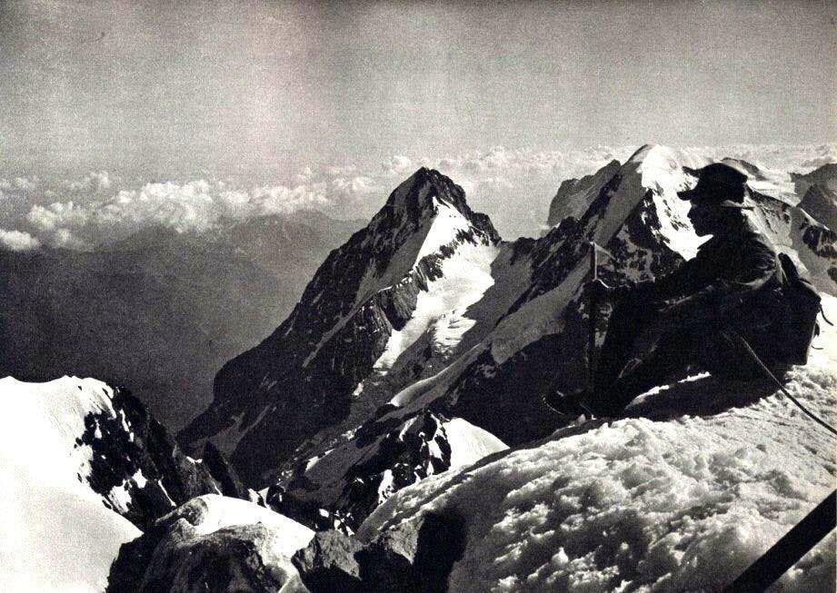 On the Jungfrau summit