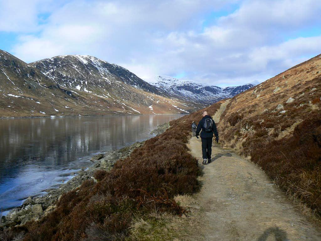 Heading along Glen Turret