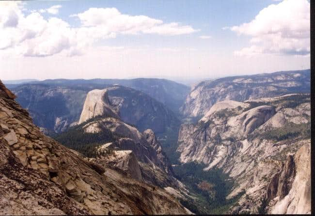 View of Half Dome and the...
