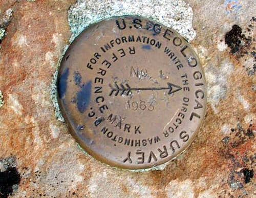 Lookout Mtn witness marker (OR)