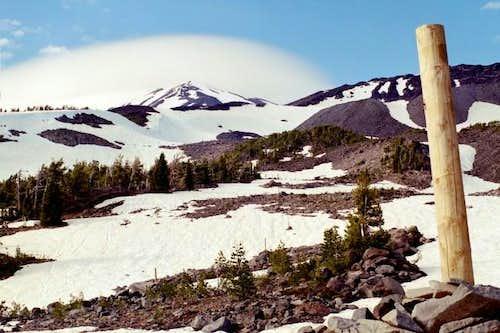 Lenticular cloud over Mount...