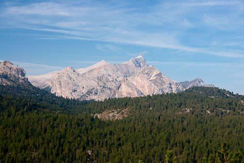 Antonispitze (2655m) in front of Neuner (2968m) and Zehner (3026m)