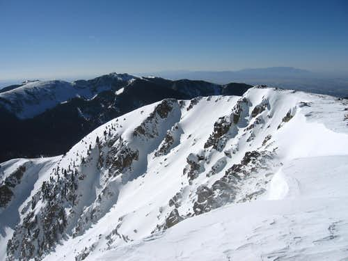 The East Chutes from Baldy\'s Summit