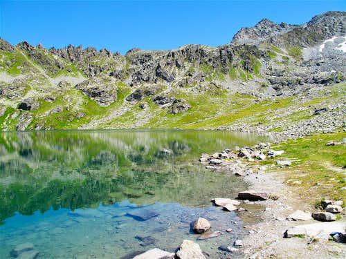 At the Lac des Vaux (2500m) above Verbier