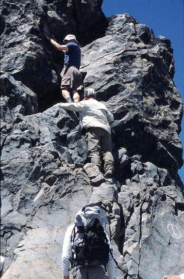 First rock scramble of 2003