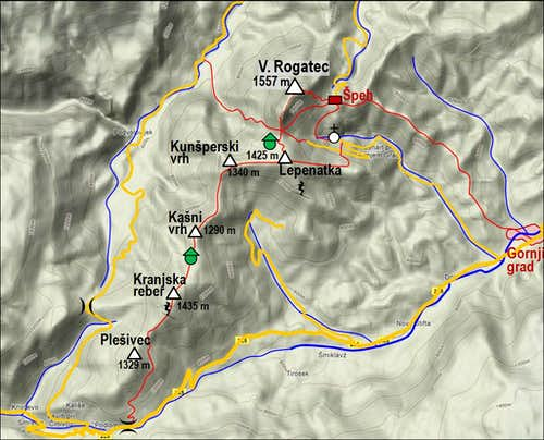 The map of Veliki Rogatec group