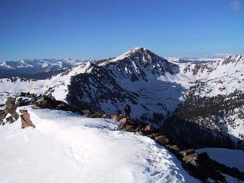 Heading up the south ridge...