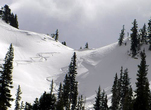 Small avalanche in Silver Fork