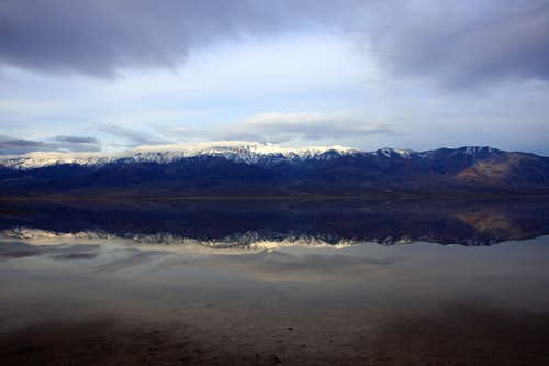 Reflection from Badwater Basin