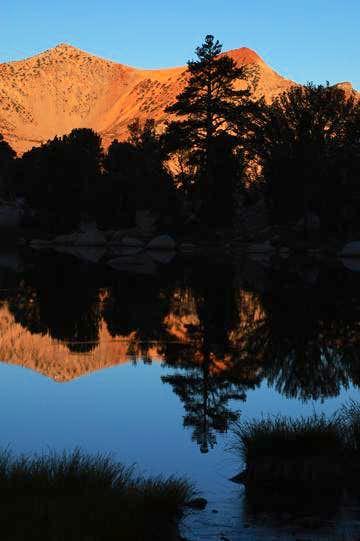 Morning Reflection on Kearsarge Lakes