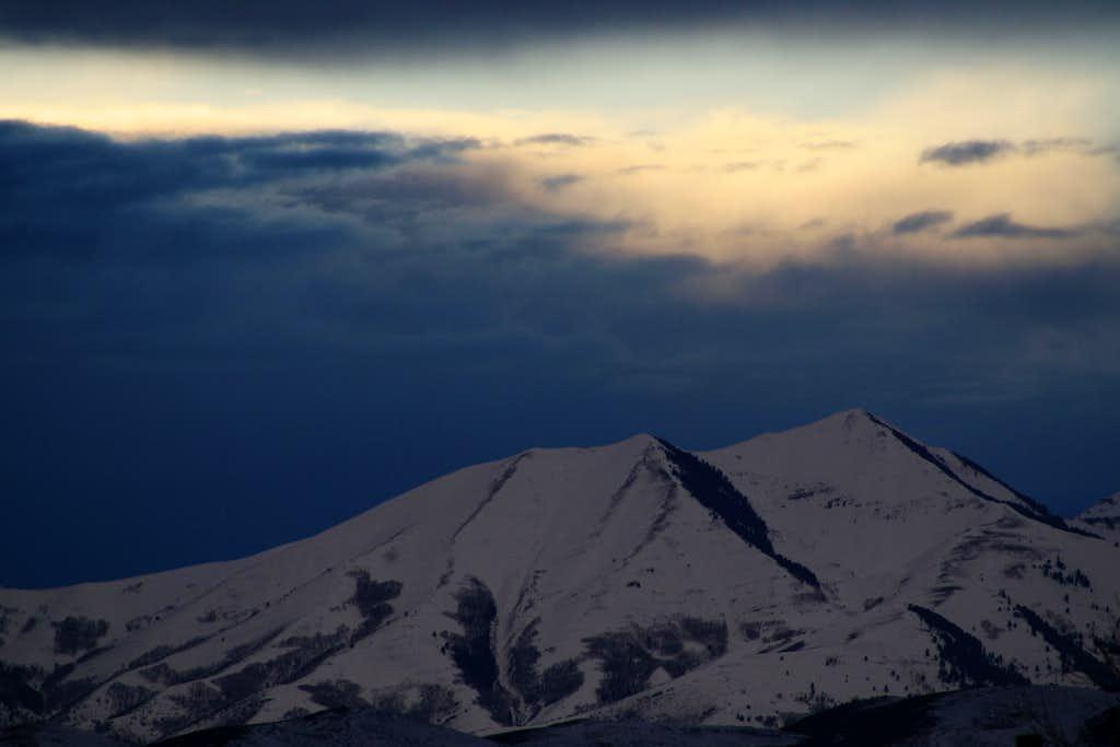 Lowe Peak (Oquirrh Mtns)  Sunset