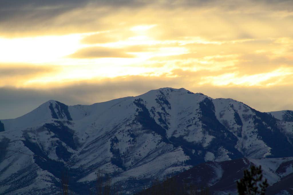 Flat Top (Oquirrh) Sunset