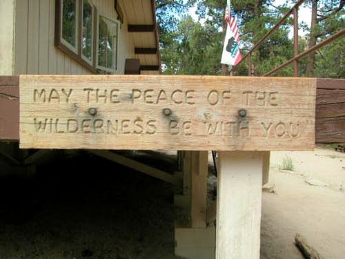 Nice sign at ranger station...