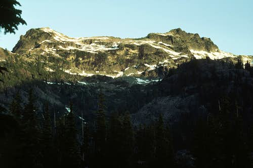 Chikamin Ridge from Spectacle Lake