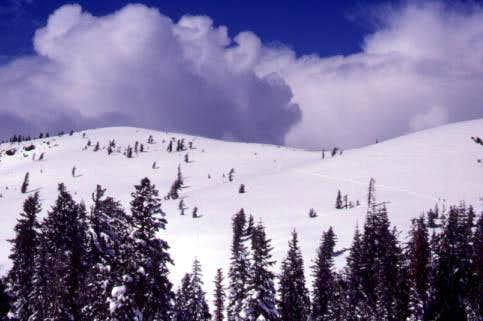 The summit of Mt. Reba is on...