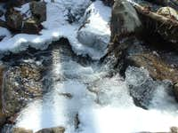 Boone Run Freezing Over