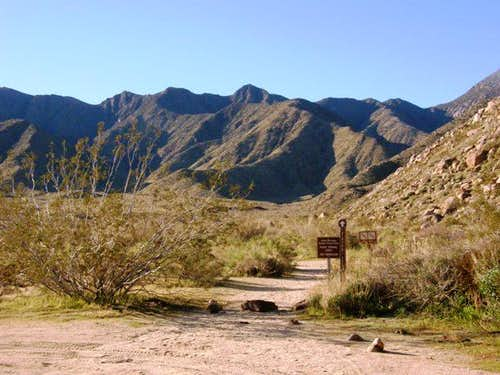 Indian Canyon Trailhead