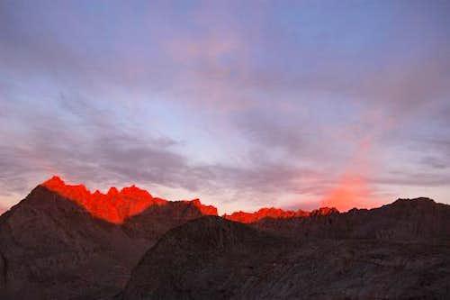 Alpenglow on Mt. Jordan