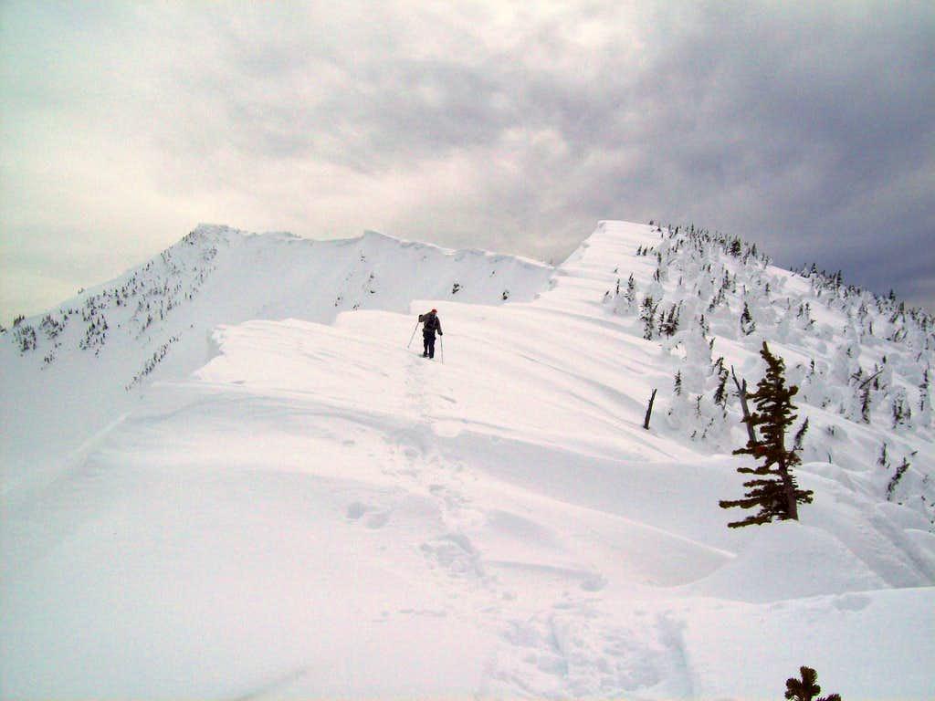 Starting up the ridge