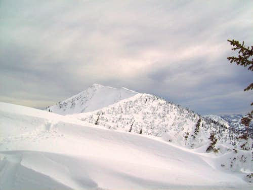 View of the summit ridge
