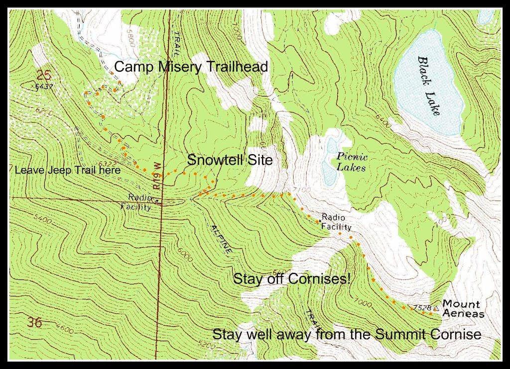 Mount Aeneas Winter Route