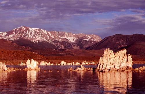 Mono Lake in morning glow