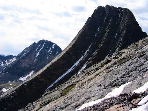 Vestal Peak seen during a...