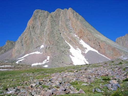 Vestal Peak seen from the...