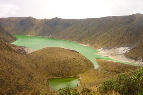 View of Laguna Verde from the rim at the end of the trail