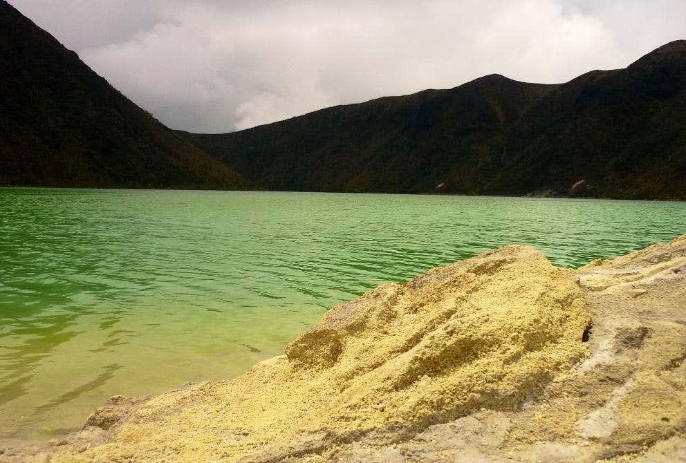 On the shores of Laguna Verde