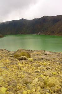 Laguna verde from fumerolas hill