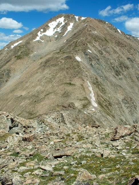 7/11/04: Mount Yale, as seen...