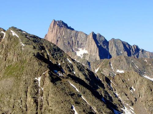 Pigeon Peak's dramatic east...