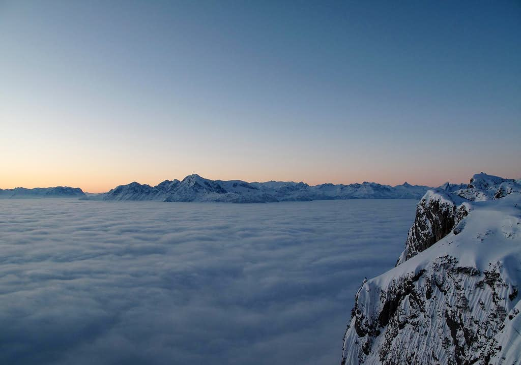 Early morning view from the Geiereck (1805m)