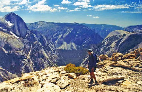 Half Dome and Yosemite Valley from Mt. Watkins