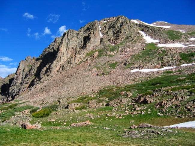 Grand Traverse Peak (right)...