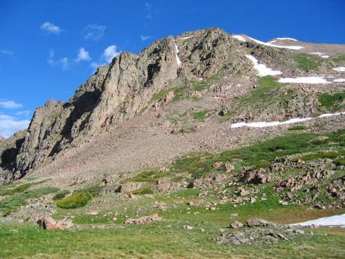 Grand Traverse Peak (right)...