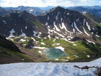 Snow Peak rises above Deluge...