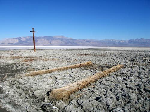 Salt Encrusted Tram Remains