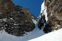 snow field and ice couloir, pitch 2