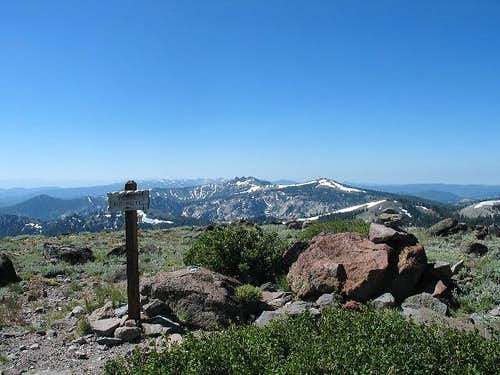 Looking south from Mt. Lola\'s...